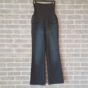 Maternity dark bootcut jeans